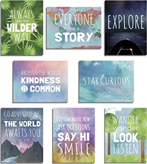 The World Mini Collection Wall Card Prints, Inspirational Phrases, Motivational Wall Quotes, 5x7 Inches, Wall Decoration