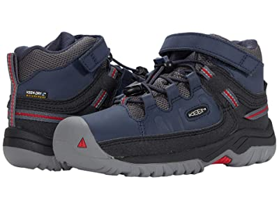 KEEN Kids Targhee Mid WP (Toddler/Little Kid) (Blue Nights/Red Carpet) Boy