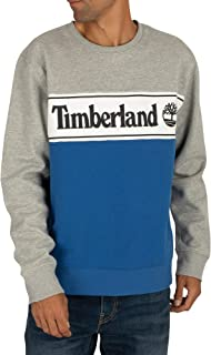 Timberland Men's Cut & Sew Logo Sweatshirt, Grey