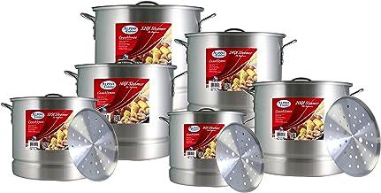 Aramco AI-832-6 Alpine Cuisine Stock Pot, 8/12/16/20/24/32 quart, Silver