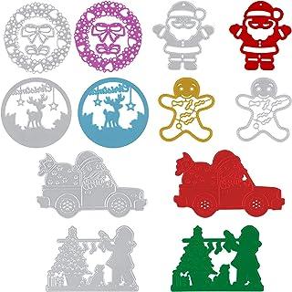 6 pièces Matrices de Découpe de Noël Arbre de Noël en Métal Pochoirs Découpés Outil de Gaufrage pour Album de Scrapbooking...