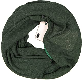 Clearrance!!! Infinity Scarf with Zipper Pocket for Women Girls - Soft Stretchy Fashion Scarves for Women Travel Scarves