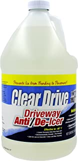 Clear Drive Liquid Calcium Chloride Professional Ice Melter - Pet Safe, Non-Toxic, All-Natural Formula, for De-Icing and Melting Snow and Ice - Works in The Toughest and Coldest Winter Weather!