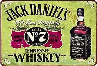 LIPTOR Jack Daniels Whiskey Retro Vintage Metal Tin Sign Poster Style Wall Art Pub Bar Decor 8