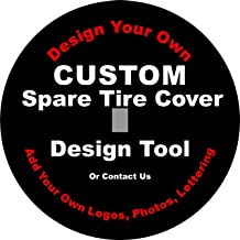 Custom Spare Tire Cover with Back up Camera Opening for Jeep JL JLU (255/70r18 Back up Camera, Black)