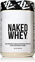 Naked WHEY 1LB 100% Grass Fed Unflavored Whey Protein Powder - US Farms, Only 1 Ingredient, Undenatured - No GMO, Soy or Gluten - No Preservatives - Promote Muscle Growth and Recovery - 15 Servings