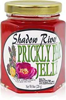 Shadow River Gourmet Prickly Pear Cactus Jelly Made From Real Cactus Fruit Juice, 8 oz Jar