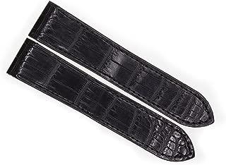 23mm Black Genuine Alligator Skin Strap Watch Band Fits Cartier Santos 100 XL Non-Chronograph