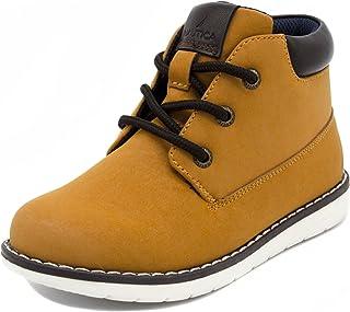 Nautica Kids Plot Chukka Boot Lace Up Fashion Shoe Sneaker-Wheat-2