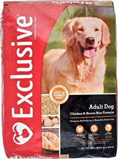Exclusive Adult Dog Food Chicken & Brown Rice Recipe, 15 lb Bag