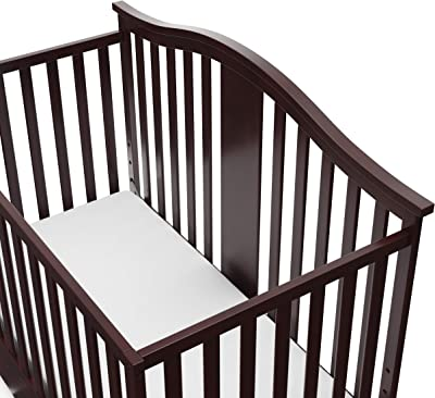 Graco Solano 4-in-1 Convertible Crib with Drawer, Converts to Daybed, Toddler Bed, and Full Size Bed, Undercrib Storage Drawer, Adjustable Mattress Height, Espresso