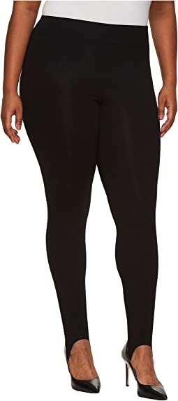 HUE - Plus Size Cotton Stirrup Leggings