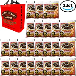 Coney Island Classics Premium Movie Theater Popcorn 8 Ounce Bag All In One Portion Kit With Coconut Oil & Flavored Salt With Bonus Large Tote Bag Bulk 24CT