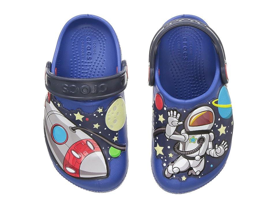 Crocs Kids Fun Lab Space Exp Lights Clog (Toddler/Little Kid) (Blue Jean) Kids Shoes