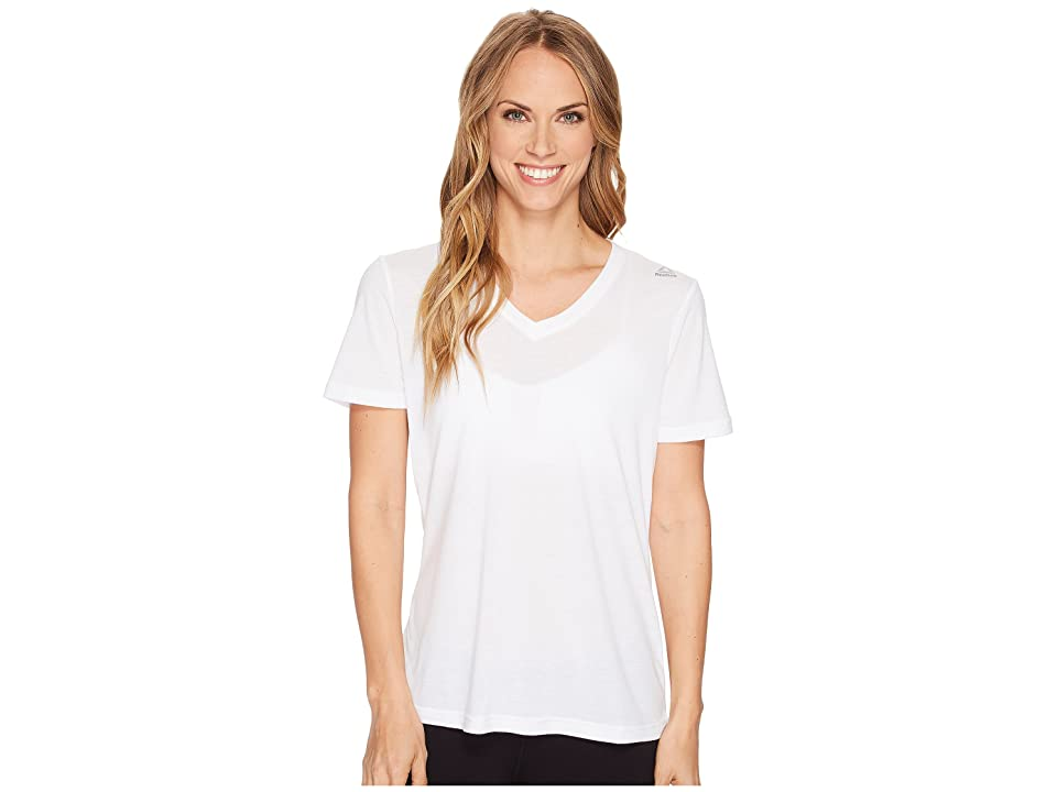 Reebok Supremium V-Neck Tee (White) Women