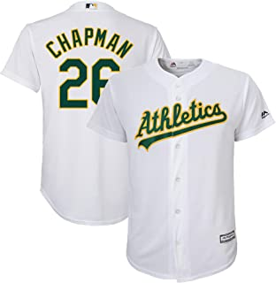 Outerstuff Matt Chapman Oakland Athletics Youth 8-20 White Home Cool Base Replica Player Jersey