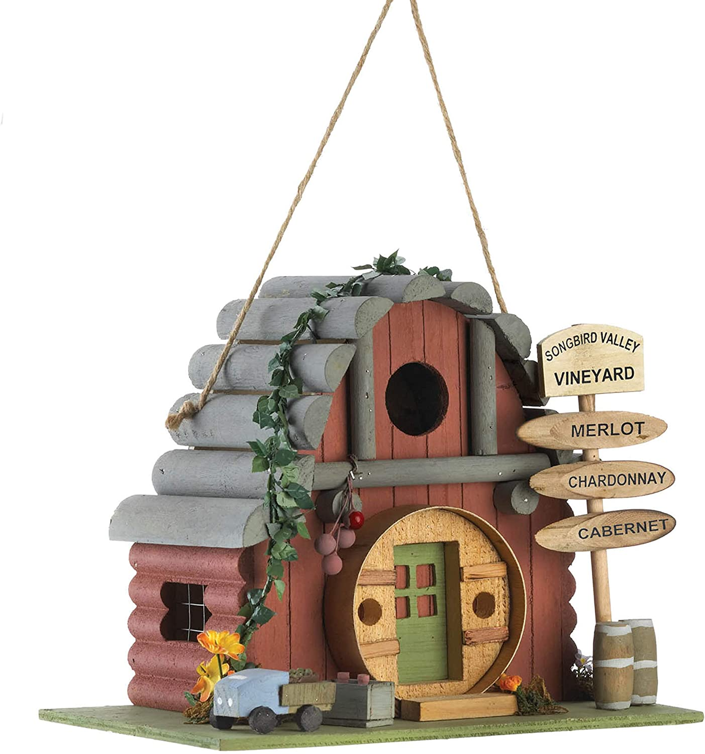 Songbird Valley Vineyard Vintage In a Outlet ☆ Free Shipping popularity Winery 10.75x6.75x8.5 Birdhouse