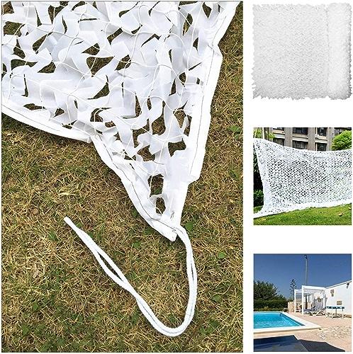 Filet De Prougeection Solaire Pour Jardin, Filet De Camouflage Filet D'ombrage Auvents Blancs Filet De Camouflage Pour Tentes Résistantes Au Feu Aux Flammes (Taille   6  8M)