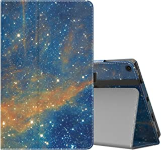 MoKo Case for All-New Amazon Fire HD 10 Tablet (7th Generation and 9th Generation, 2017 and 2019 Release) - Slim Folding Stand Cover with Auto Wake/Sleep for 10.1 Inch Tablet, Sky Star