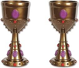 Beistle S57846AZ2, 2 Piece Plastic Jeweled Goblets, 8 Ounces