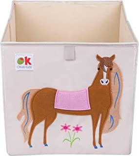 Wildkin Kids 13 Inch Storage Cube for Boys and Girls, Helps Keep Toys, Games, Books, and Art Supplies Organized in Your Child's Bedroom or Playroom, Designs Coordinate with Our Bedding and Room Décor