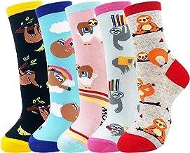 Jia Li Sloth Loves Unisex Funny Novelty Casual Soft Cotton Socks