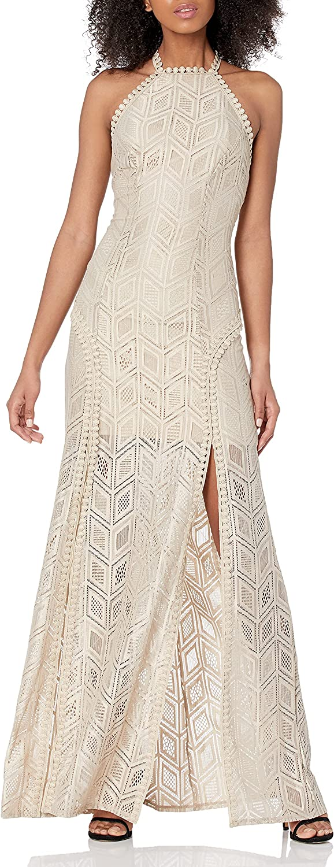 GUESS Women's Sleeveless Crochet Maxi Lucina Dress