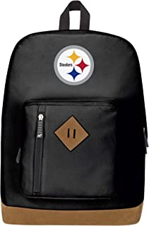 """Officially Licensed NFL Pittsburgh Steelers """"Playbook"""" Backpack, Black, 18"""" x 5"""" x 13"""""""