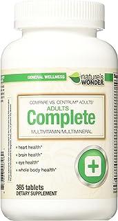 Nature's Wonder Adult Multivitamin, 365 Count, Compare vs. Centrum® Adults