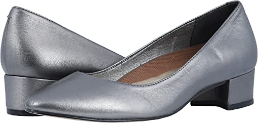 Dark Silver Metallic Leather