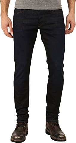 3301 Tapered Fit Jeans in Visor Stretch Denim Dark Aged