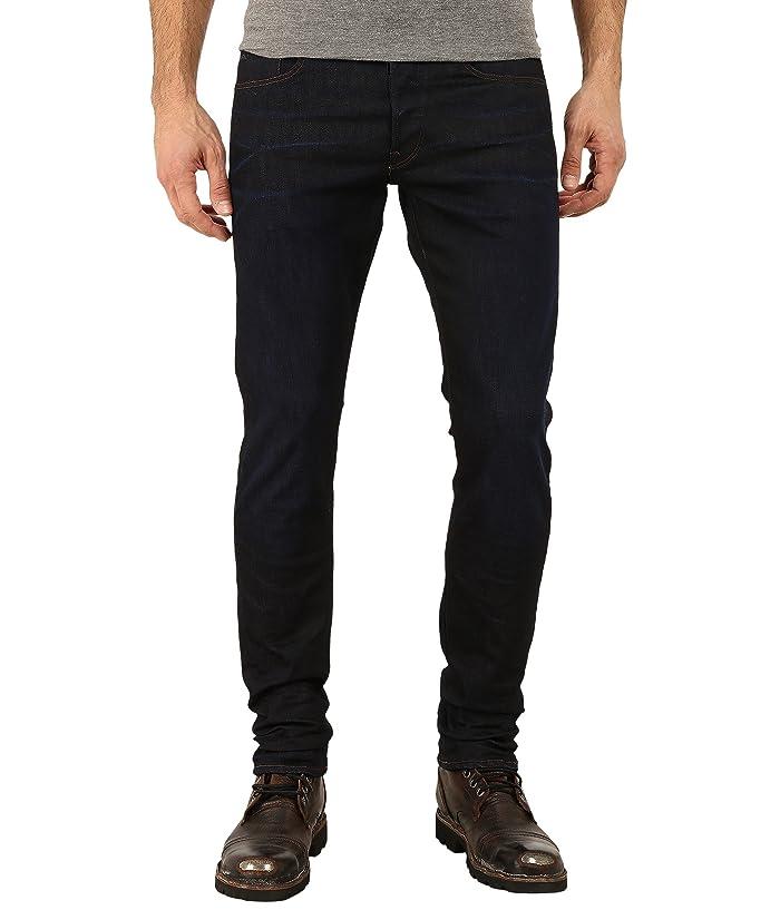 87f8e9993e4 G-Star 3301 Tapered Fit Jeans in Visor Stretch Denim Dark Aged at ...