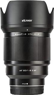 VILTROX 85mm f1.8 Mark II for Fuji x Mount 85mm ii Lens AF Auto Lens Portrait Fixed Focus Lens for Fujifilm Fuji X Mount C...