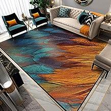 Rectangle Golden Diamond Pile Carpet,Waterproof Indoor Blanket, Various Styles of Floor Mats Printed Rugs,Children's Room/...