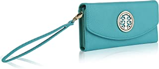 MKF Collection Camilla Zip and Snap Wallet By Mia K. Farrow (Light Green)