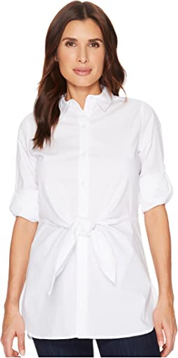 Roll Sleeve Tie Waist Tunic
