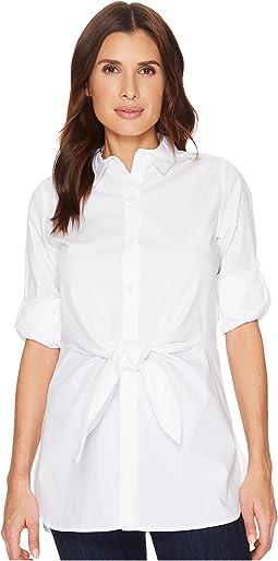 Calvin Klein - Roll Sleeve Tie Waist Tunic