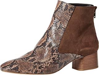 Find Women's Ankle Boots With Suede And Snakeskin Effect In Chelsea Style, Beige (Tan/Snake), 3 UK,25-02-02