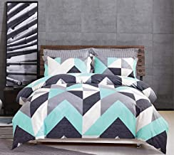 Gioia Casa 100% Cotton Modern City Reversible Quilt Cover Set Queen/King Size