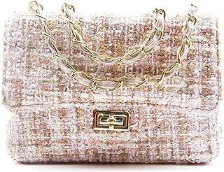 Women's Tweend Handbag Chain Purse Crossbody Shoulder Bag Messenger Bag for Girls