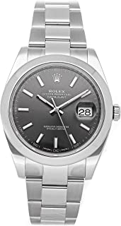 Rolex Datejust Mechanical (Automatic) Rhodium Dial Mens Watch 126300 (Certified Pre-Owned)