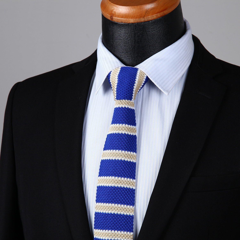 Zubeh/ör f/ür Hochzeit legere Krawatte BIYINI Herren Strick-Krawatte f/ür Trauzeugen