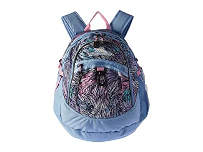 High Sierra Fat Boy Backpack (Feather Spectre/Powder Blue/Iced Lilac) Backpack Bags