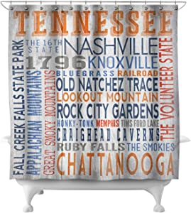 Lantern Press Tennessee - Rustic Typography 66562 (74x74 Polyester Shower Curtain)