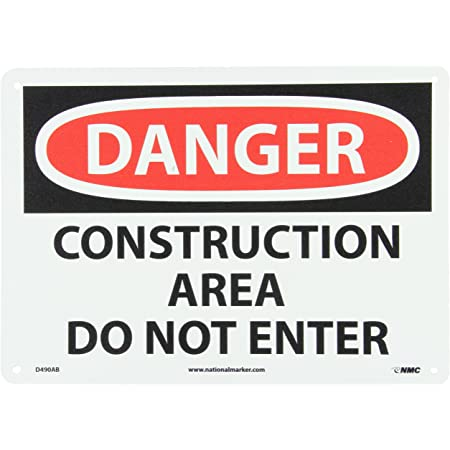 Danger Construction site Unauthorised Persons Metal  Sign 600x450mm 224LM