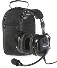 Cadence CA501 Premium PNR Stereo Pilot Aviation Headset with Aux Input and Carrying Case - Jet Black