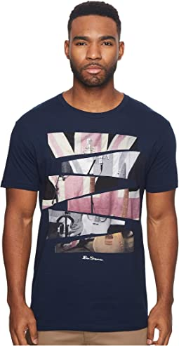 Ben Sherman - Short Sleeve Union Jack Cut Up Graphic Tee
