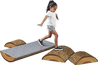 ECR4Kids SoftZone Tree Log Climber Play Set -4-Piece Climber Kit for Kids - 1 Long, 1 Medium and 2 Short Logs (4-Piece Set)