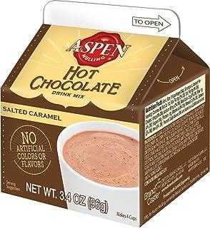 Aspen Mulling Hot Chocolate Drink Mix, Salted Caramel, 3.4-Ounce Carton