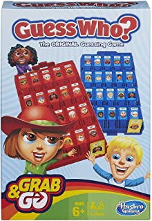 Grab and Go Guess Who? Game for Kids Ages 6 and Up Portable 2 Player Game